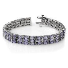 18.26 ctw Tanzanite & Diamond Bracelet 14K White Gold - 11656-REF#-363X8Y