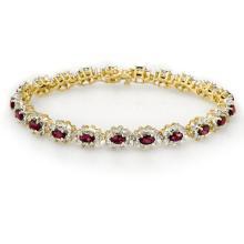 10.80 ctw Ruby & Diamond Bracelet 14K Yellow Gold - 13167-REF#-287A2N