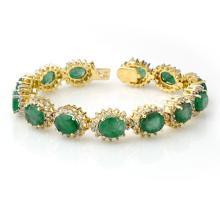 30.05 ctw Emerald & Diamond Bracelet 14K Yellow Gold - 13347-REF#-408F5M