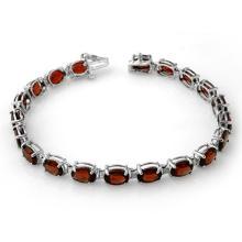 21.0 ctw Garnet Bracelet 10K White Gold - 13709-REF#-52V2A