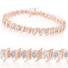 1.0 ctw Diamond Bracelet 10K Rose Gold - 14038-REF#-61A4N