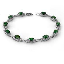 6.10 ctw Emerald Bracelet 14K White Gold - 13800-REF#-58P7X