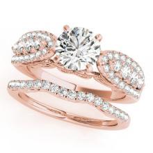 1.96 CTW Certified VS/SI Diamond Solitaire 2pc Wedding Set  14K Gold - REF#-422T7K