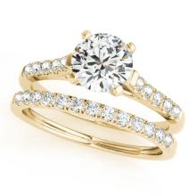1.22 CTW Certified VS/SI Diamond Solitaire 2pc Wedding Set  14K Gold - REF#-202H9M