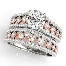 1.56 CTW Certified VS/SI Diamond Solitaire 2pc Set  14K Two Tone Gold - REF#-186W2G