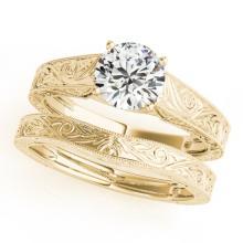 1.5 CTW Certified VS/SI Diamond Solitaire 2pc Wedding Set  14K Gold - REF#-540M3F