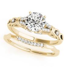 1 CTW Certified VS/SI Diamond Solitaire 2pc Wedding Set  14K Gold - REF#-187Y5M