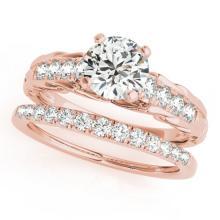 1.29 CTW Certified VS/SI Diamond Solitaire 2pc Wedding Set  14K Gold - REF#-374T9K