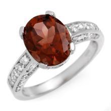 3.60 CTW Pink Tourmaline & Diamond Ring 14K White Gold - REF-84M2F - 10466