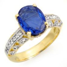4.33 CTW Kaynite & Diamond Ring 10K Yellow Gold - REF-102Y2X - 13406