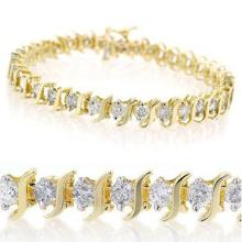 2.0 CTW Certified VS/SI Diamond Bracelet 10K Yellow Gold - REF-121W6F - 13226