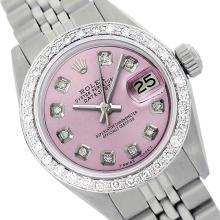 Rolex Ladies Stainless Steel, Diamond Dial & Diamond Bezel, Sapphire Crystal - REF-426K6T