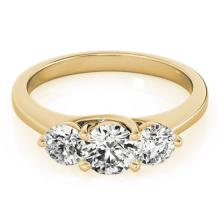 3.0 CTW Certified Diamond 3 Stone Bridal Solitaire Ring 18K Yellow Gold - 28019-REF#646F8M