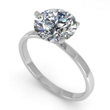2.0 CTW Certified Diamond Solitaire Engagement Ring 14K Martini Gold - 14402-REF#770Y6V
