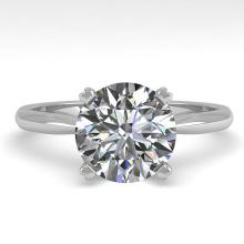 2.0 CTW Certified Diamond Bridal Solitaire Engagement Ring 18K Gold - 32442-REF#827H6R