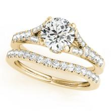 1.06 CTW Certified VS/SI Diamond Solitaire 2pc Wedding Set  14K Gold - REF#-96F5V