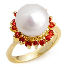 0.75 ctw Red Sapphire Ring 10K Yellow Gold - REF#-28A4X-10358