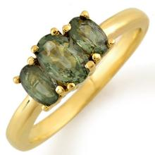 1.18 ctw Green Sapphire Ring 10K Yellow Gold - 10234-REF#-16K8T