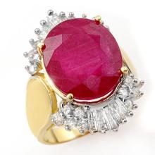 15.75 ctw Ruby & Diamond Ring 14K Yellow Gold - 12972-REF#-170H2W