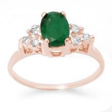 1.18 ctw Emerald & Diamond Ring 14K Rose Gold - 13965-REF#-22A2N