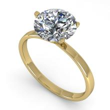 2 CTW CERTIFIED VS/SI DIAMOND ENGAGMENT RING 18K MARTINI Gold - REF#-936R2H