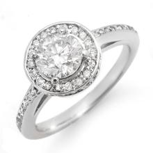 1.75 ctw Certified VS/SI Diamond Ring 14K White  Gold - REF#-429A8X