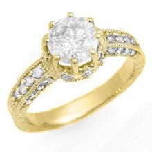 1.75 ctw Certified VS/SI Diamond Ring 14K Yellow  Gold - REF#-556K5W