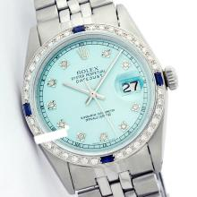 Rolex Ladies Stainless Steel, Diam Dial & Diam/Sapphire Bezel, Sapphire Crystal - REF-426A3N