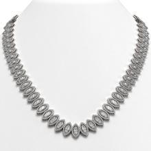 47.12 CTW Marquise Diamond Designer Necklace 18K White Gold - REF-8739W5F - 42830