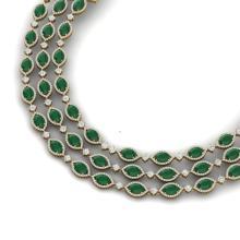 85.81 CTW Royalty Emerald & VS Diamond Necklace 18K Yellow Gold - REF-1618M2H - 38942