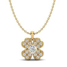 0.27 CTW Micro Pave VS/SI Diamond Necklace 18K Yellow Gold - REF-34K2W - 20352