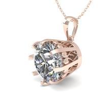 2 CTW VS/SI Diamond Solitaire Necklace 14K Rose Gold - REF-921M6H - 29582