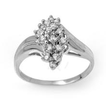 0.25 ctw Certified VS/SI Diamond Ring 14K White Gold - REF#-33H3M - 14290
