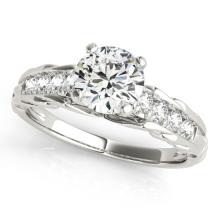 1.2 CTW Certified VS/SI Diamond Solitaire Bridal Ring 18K White Gold Gold - REF#-368A7X - 27537