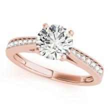 0.7 CTW Certified VS/SI Diamond Solitaire Bridal Ring 18K Rose Gold Gold - REF#-114R9H - 27625