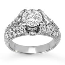 2.20 ctw Certified VS/SI Diamond Ring 18K White Gold - REF#-569X3T - 11868