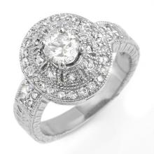 1.33 ctw Certified VS/SI Diamond Ring 14K White Gold - REF#-214Y5M - 13968