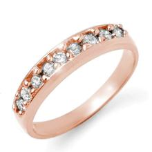 0.50 ctw Certified VS/SI Diamond Ring 18K Rose Gold - REF#-70K4W - 12826