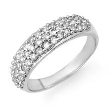 1.0 ctw Certified VS/SI Diamond Ring 18K White Gold - REF#-94M2R - 14226
