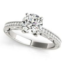 0.75 CTW Certified VS/SI Diamond Solitaire Bridal Ring 18K White Gold - REF#-129Y8M - 27372