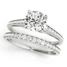 1.83 CTW Certified VS/SI Diamond Solitaire 2pc Wedding Set  14K Gold - REF#-408T9K-31601