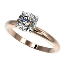 1.25 CTW Certified H-SI/I Quality Diamond Solitaire Engagement Ring 10K Rose Gold - REF-290W9F - 32904