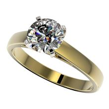 1.55 CTW Certified H-SI/I Quality Diamond Solitaire Engagement Ring 10K Yellow Gold - REF-339N2Y - 36547