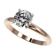 1.50 CTW Certified H-SI/I Quality Diamond Solitaire Engagement Ring 10K Rose Gold - REF-400A2X - 32923