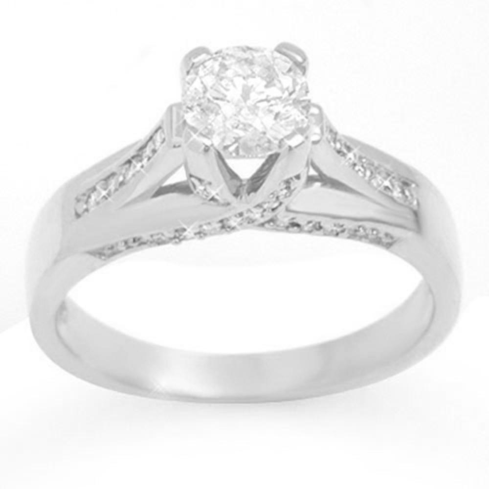 1.18 ctw VS/SI Diamond Ring 18K White Gold - REF-280V6Y - SKU:11380