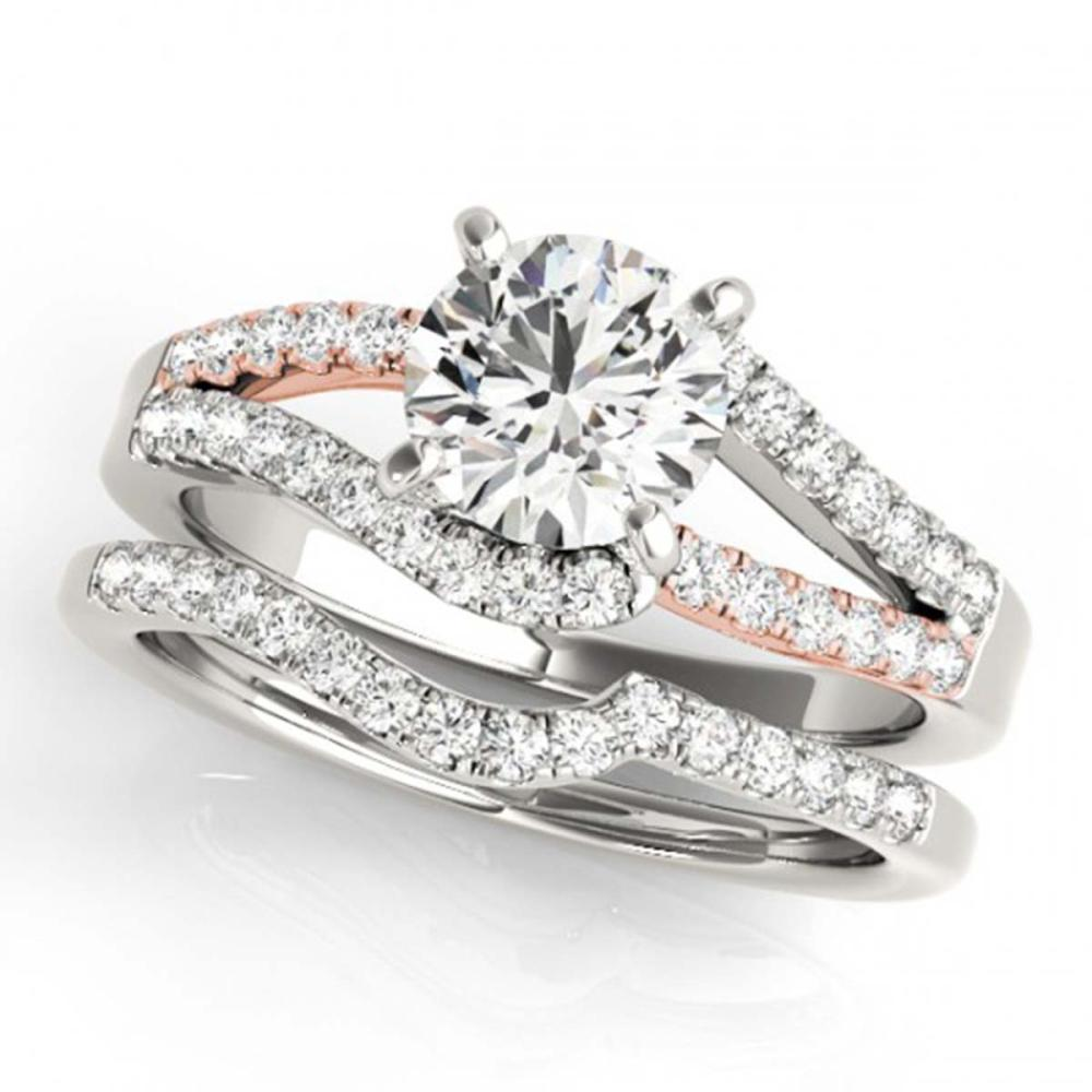1.36 ctw VS/SI Diamond Solitaire 2pc Set 14K White & Rose Gold - REF-172Y4X - SKU:31961