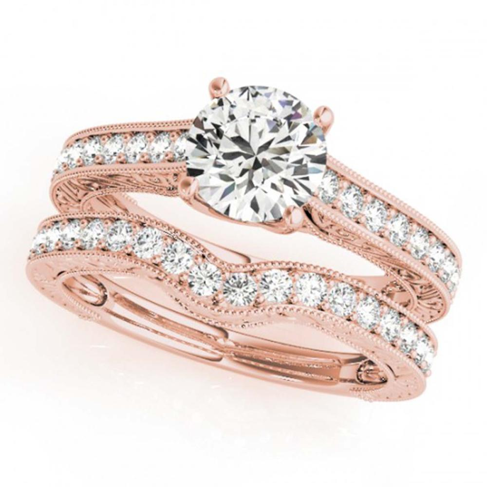 1.42 ctw VS/SI Diamond 2pc Wedding Set 14K Rose Gold - REF-162V2Y - SKU:31668