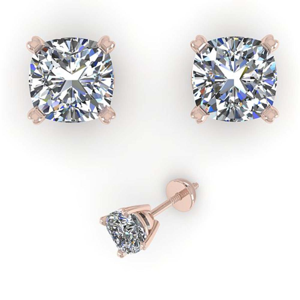 1.06 ctw VS/SI Cushion Diamond Stud Earrings 18K White Gold - REF-148N5A - SKU:32292