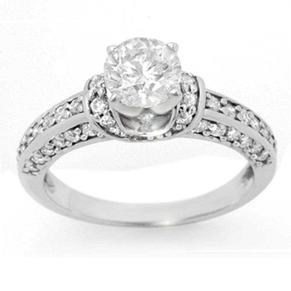1.60 ctw VS/SI Diamond Ring 14K White Gold - REF-283R6K - SKU:11593
