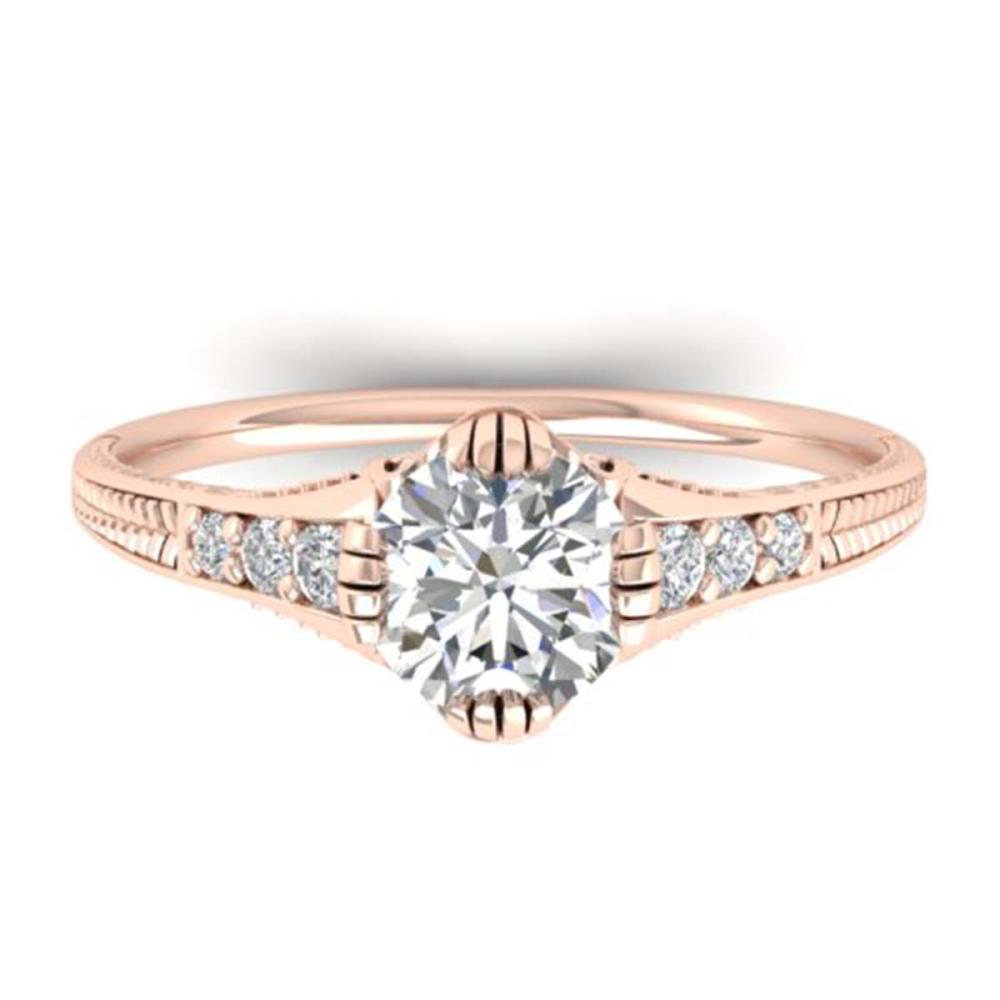 1.25 ctw VS/SI Diamond Art Deco Ring 14K Rose Gold - REF-303M9F - SKU:30523